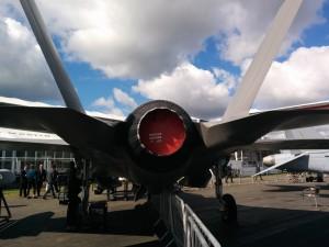 F-35。後姿も凛々しい