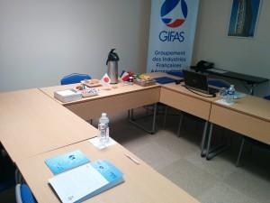 IASオフィスの会議室にて(2016年7月)